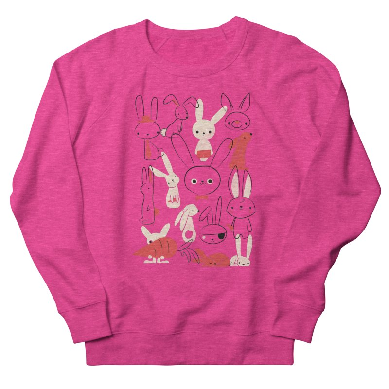 Bunnies Men's French Terry Sweatshirt by jayfleck's Artist Shop