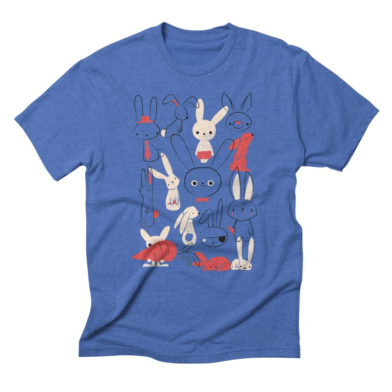 Bunnies Men's Triblend T-shirt by jayfleck's Artist Shop