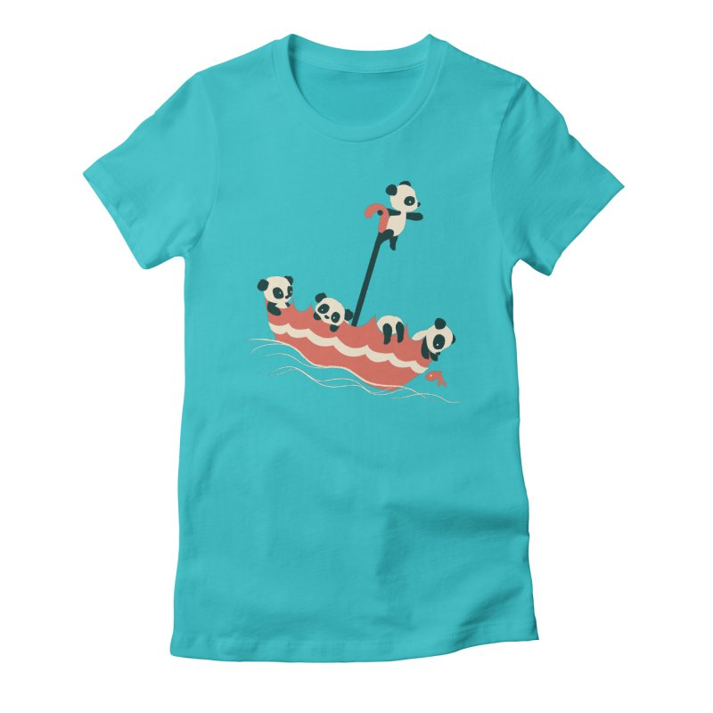 Float On Women's Fitted T-Shirt by jayfleck's Artist Shop