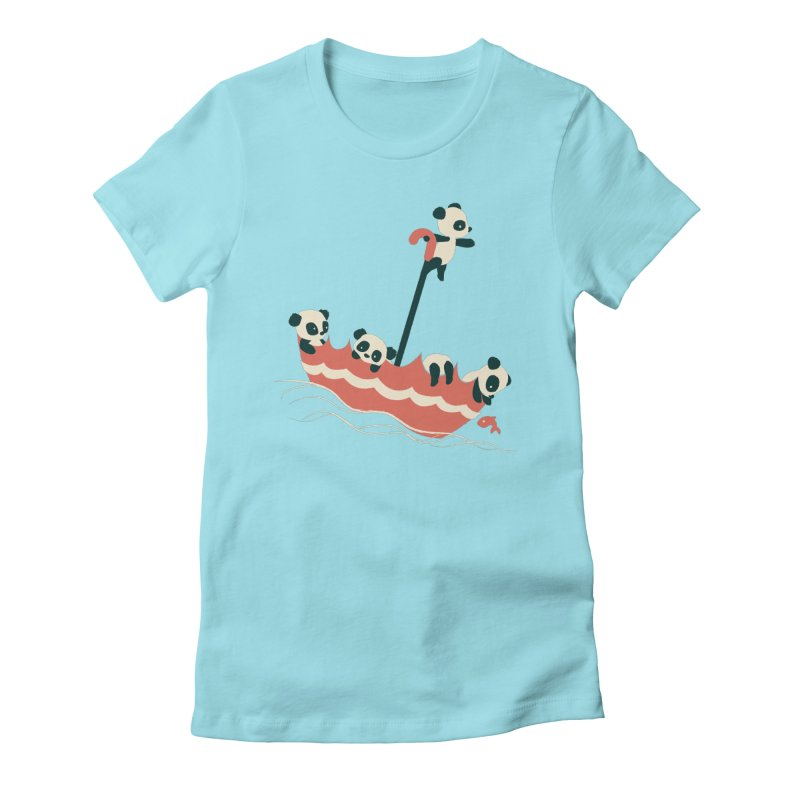 Float On Women's Fitted T-Shirt by jayfleck's Artist Shop
