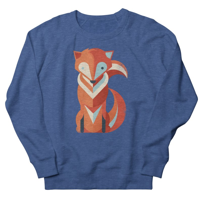 Fox Men's French Terry Sweatshirt by jayfleck's Artist Shop