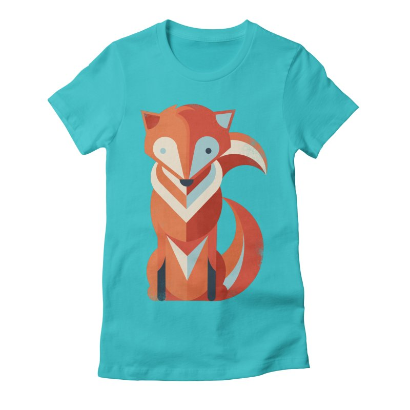 Fox Women's Fitted T-Shirt by jayfleck's Artist Shop
