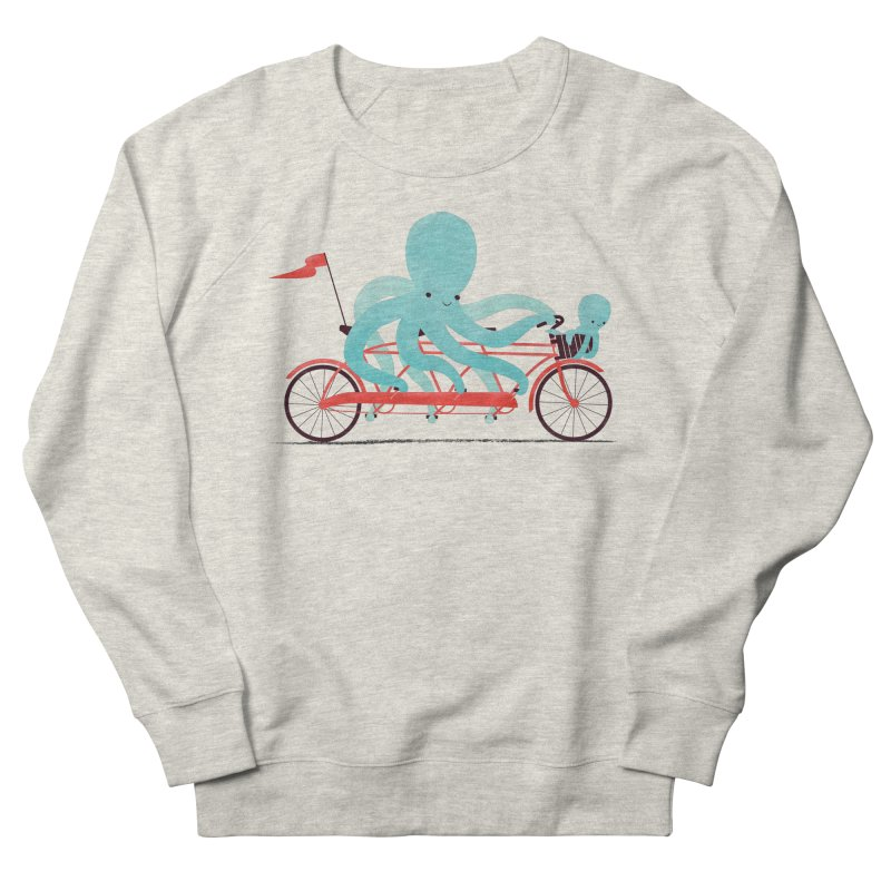 My Red Bike Men's French Terry Sweatshirt by jayfleck's Artist Shop
