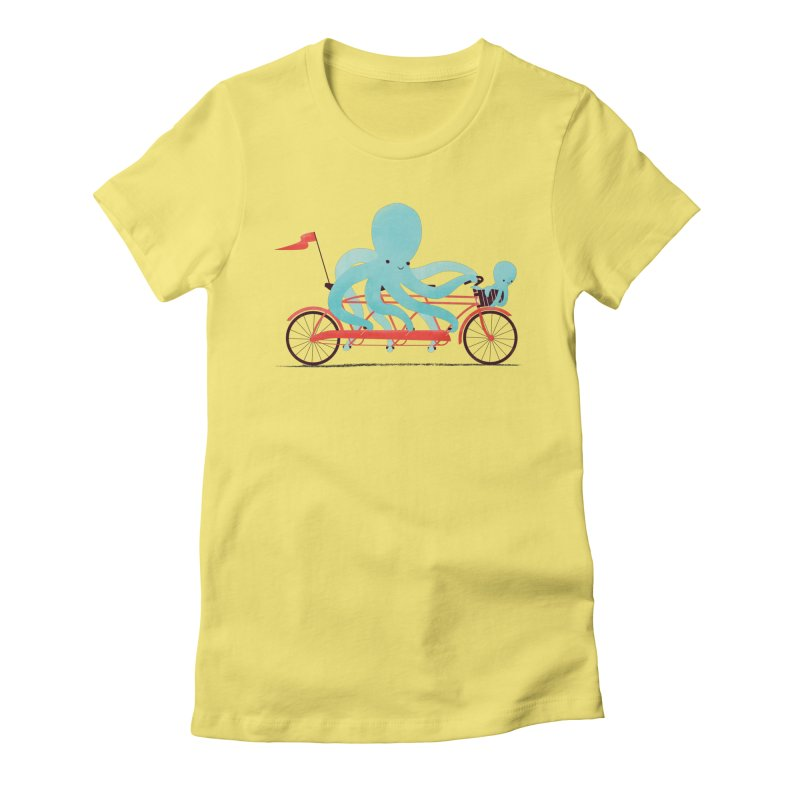 My Red Bike Women's Fitted T-Shirt by jayfleck's Artist Shop