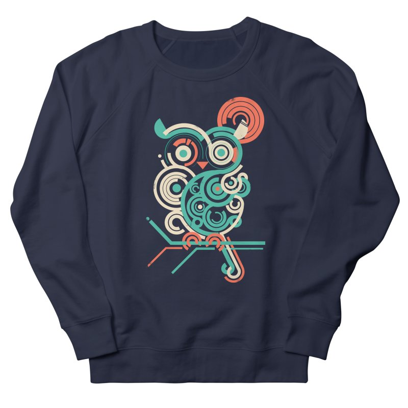 Owl 2.0 Men's French Terry Sweatshirt by jayfleck's Artist Shop