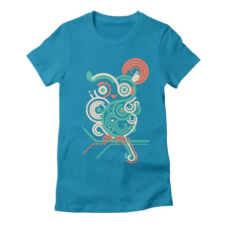 Owl 2.0 Women's Fitted T-Shirt by jayfleck's Artist Shop