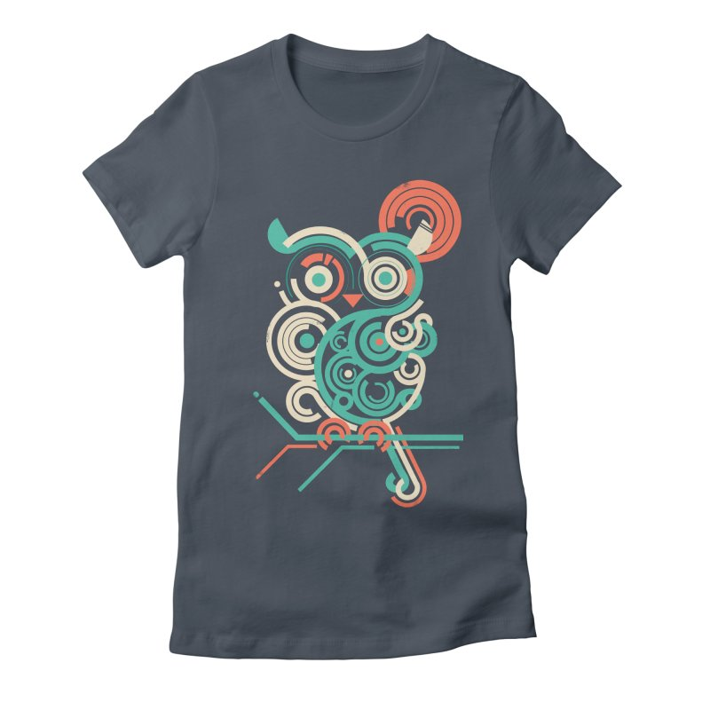 Owl 2.0 Women's Fitted T-Shirt by jayfleck's Artist Shop