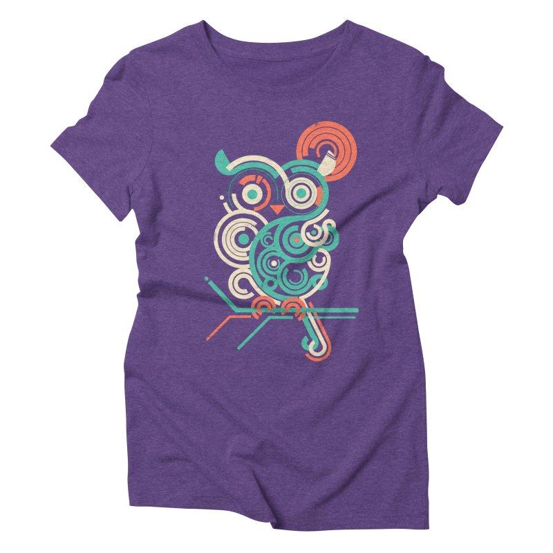 Owl 2.0 Women's Triblend T-Shirt by jayfleck's Artist Shop