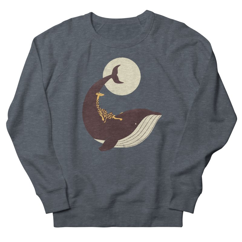 The Giraffe and the Whale Men's French Terry Sweatshirt by jayfleck's Artist Shop