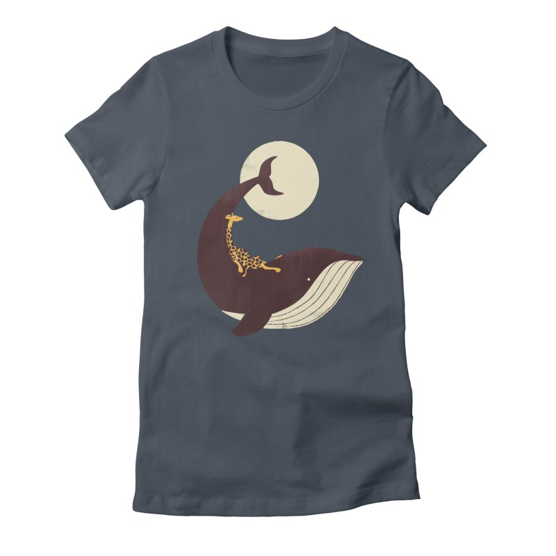 The Giraffe and the Whale Women's Fitted T-Shirt by jayfleck's Artist Shop