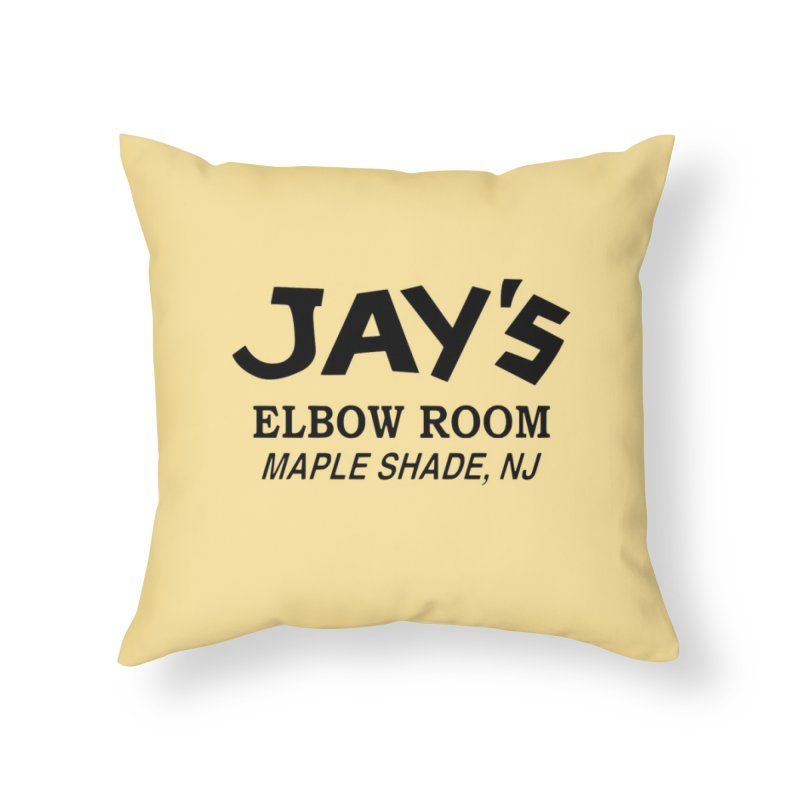 Jay's Elbow Home Throw Pillow by jayselbowroom's Artist Shop