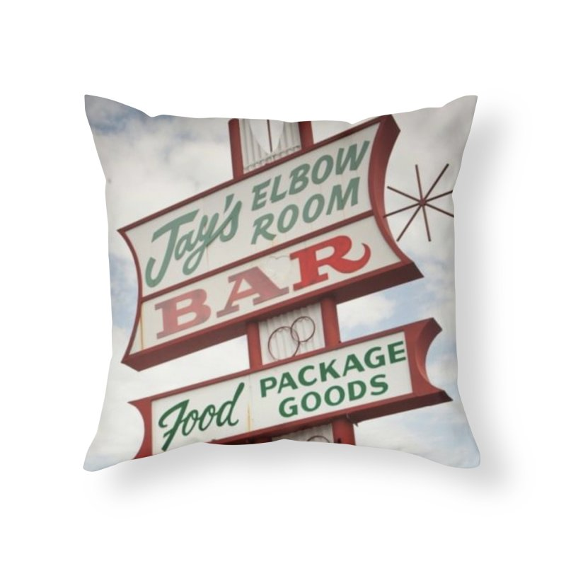 The Sign Home Throw Pillow by jayselbowroom's Artist Shop