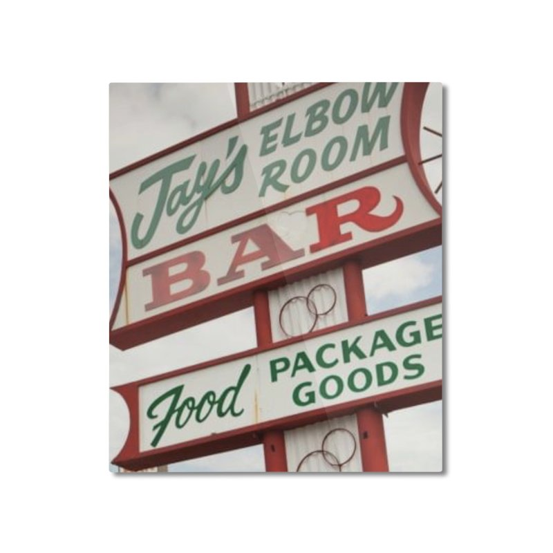 The Sign Home Mounted Aluminum Print by jayselbowroom's Artist Shop