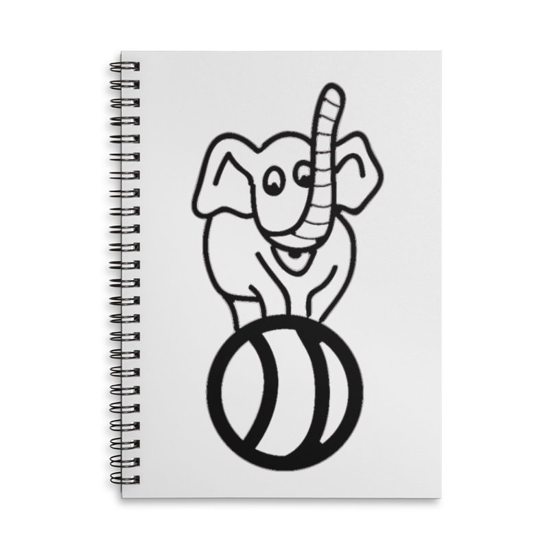 What's with the elephant? Accessories Notebook by jayselbowroom's Artist Shop