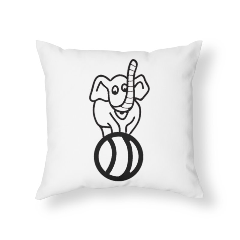 What's with the elephant? Home Throw Pillow by jayselbowroom's Artist Shop