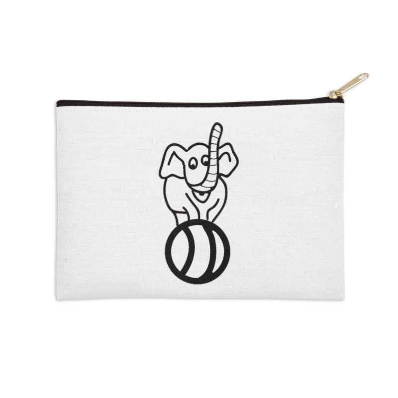 What's with the elephant? Accessories Zip Pouch by jayselbowroom's Artist Shop