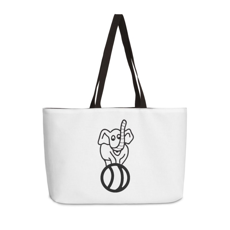 What's with the elephant? Accessories Bag by jayselbowroom's Artist Shop