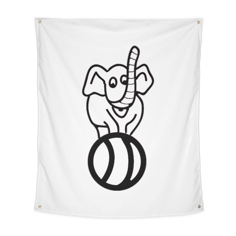 What's with the elephant? Home Tapestry by jayselbowroom's Artist Shop