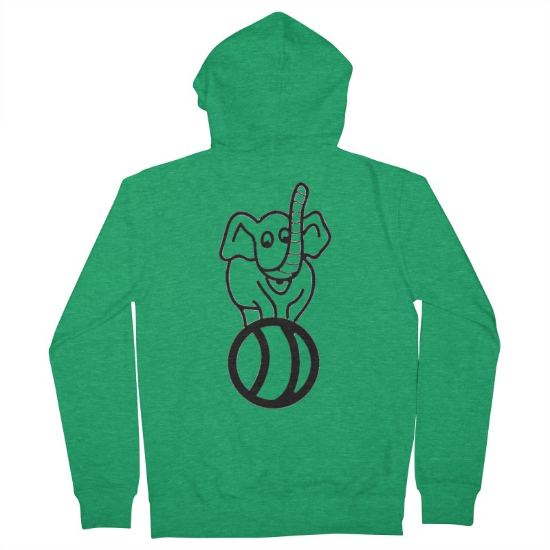 What's with the elephant? Men's Zip-Up Hoody by jayselbowroom's Artist Shop