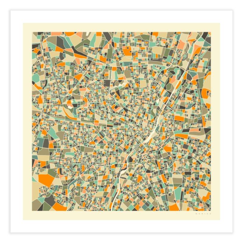 MUNICH MAP in Fine Art Print by Jazzberry Blue's Artist Shop