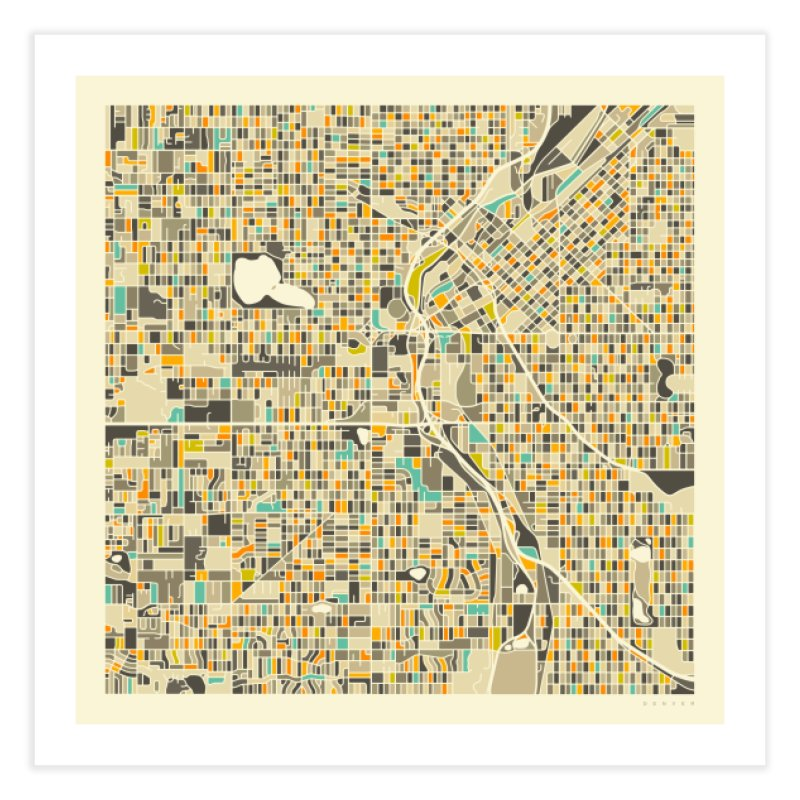 DENVER MAP in Fine Art Print by Jazzberry Blue's Artist Shop