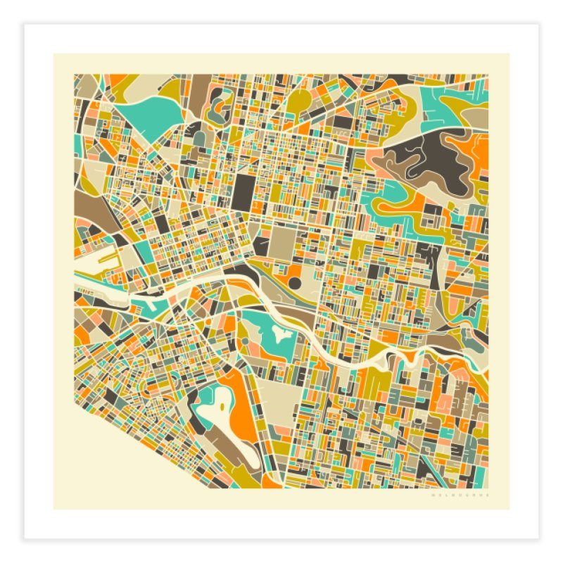 MELBOURNE MAP in Fine Art Print by Jazzberry Blue's Artist Shop