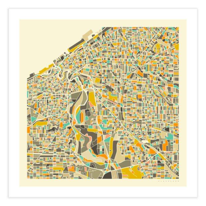 CLEVELAND MAP in Fine Art Print by Jazzberry Blue's Artist Shop