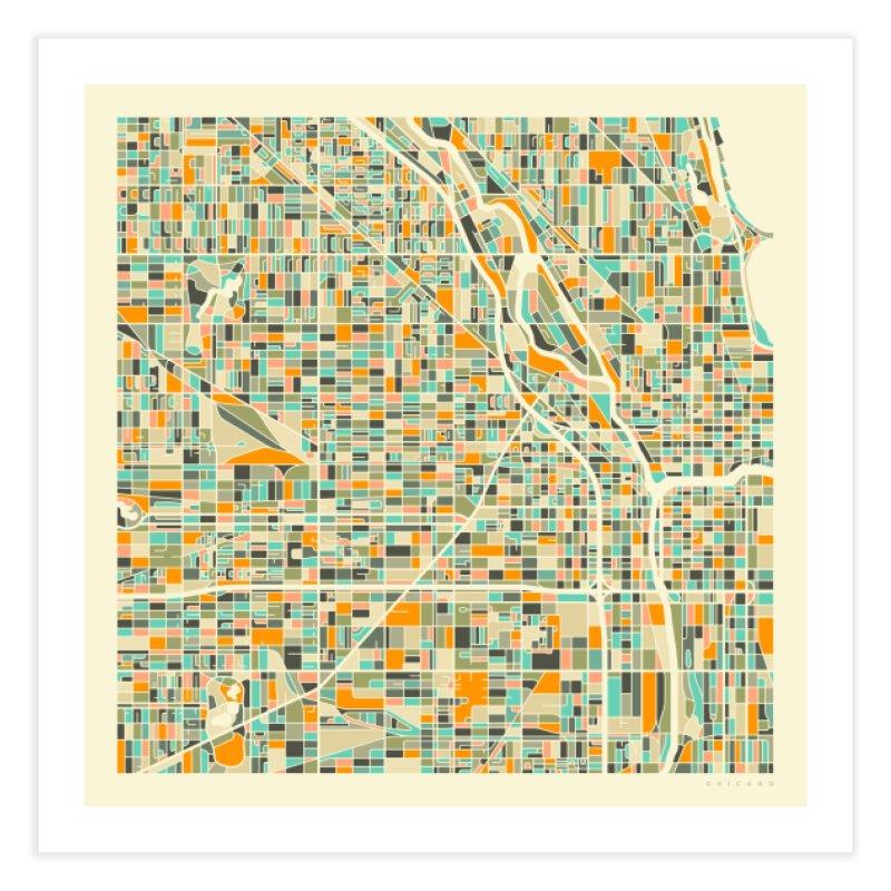 CHICAGO MAP in Fine Art Print by Jazzberry Blue's Artist Shop
