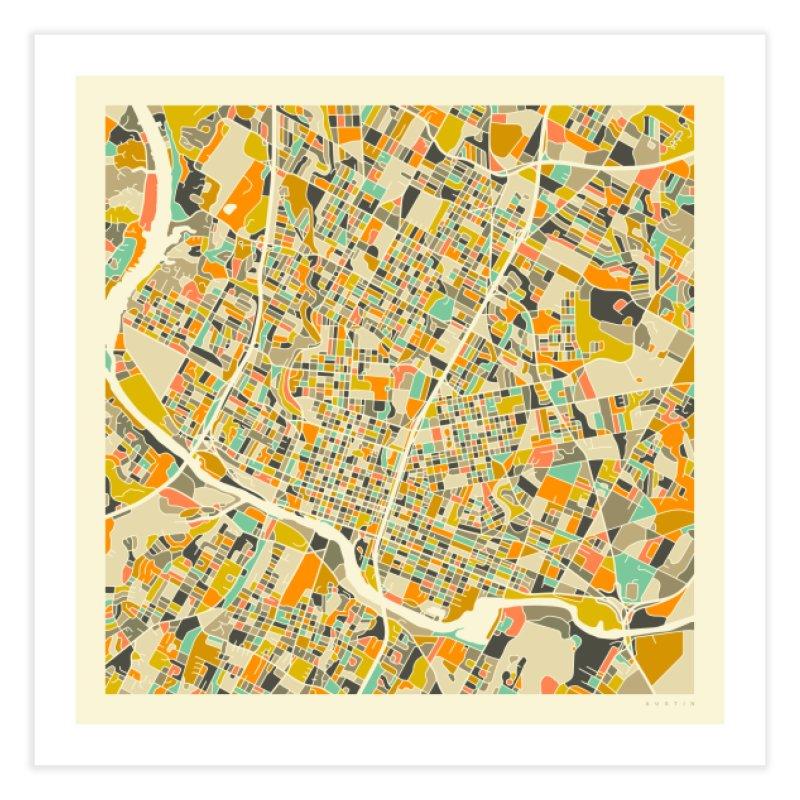 AUSTIN MAP in Fine Art Print by Jazzberry Blue's Artist Shop