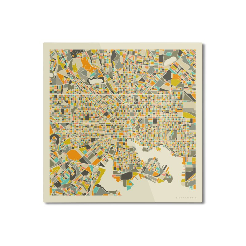 BALTIMORE MAP Home Mounted Aluminum Print by Jazzberry Blue's Artist Shop