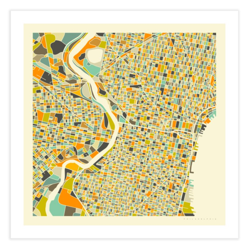 PHILADELPHIA MAP in Fine Art Print by Jazzberry Blue's Artist Shop