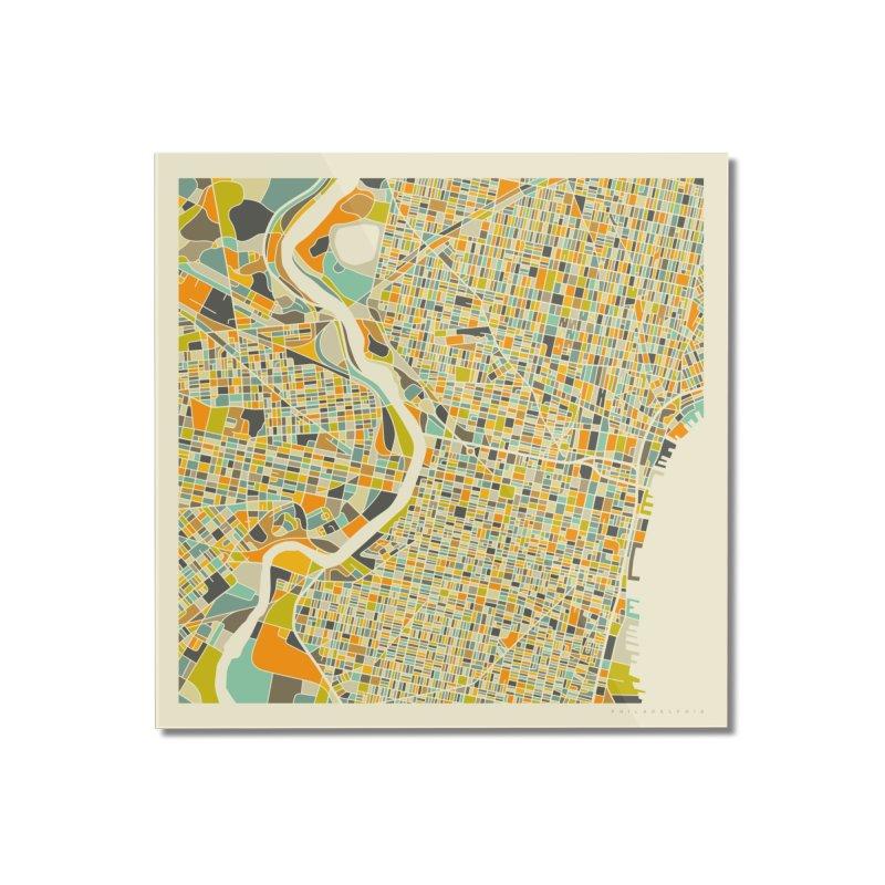 PHILADELPHIA MAP Home Mounted Acrylic Print by Jazzberry Blue's Artist Shop