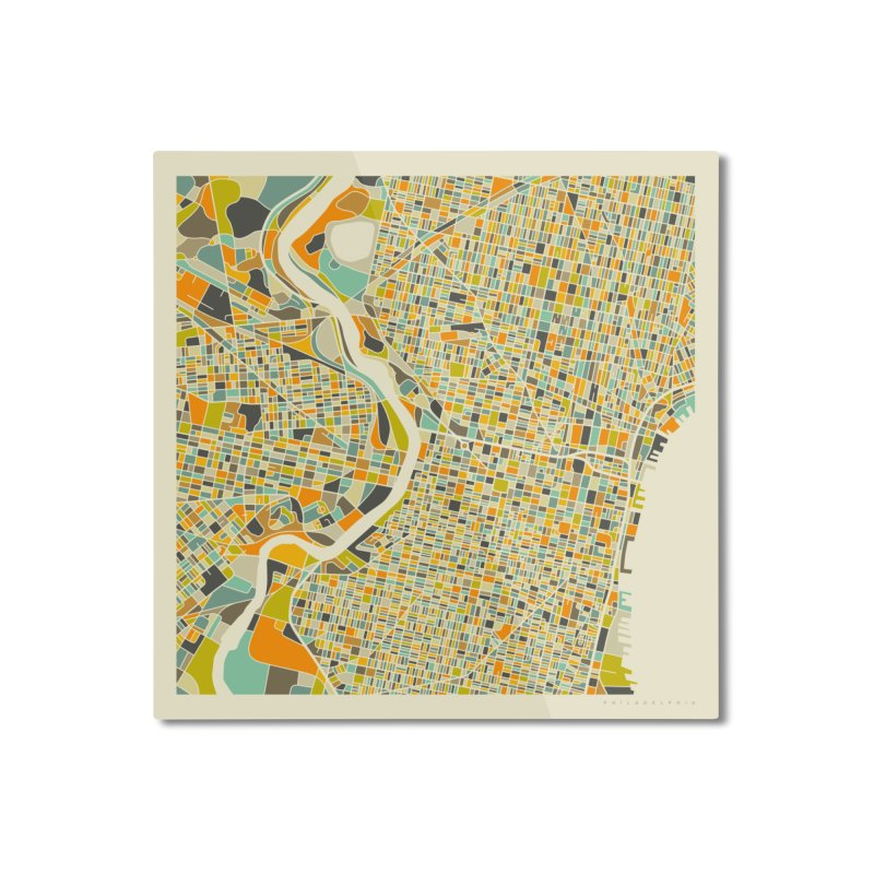 PHILADELPHIA MAP Home Mounted Aluminum Print by Jazzberry Blue's Artist Shop