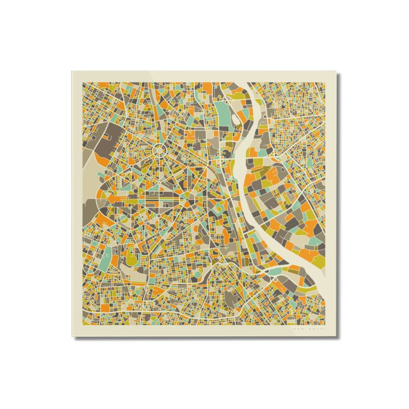 NEW DELHI MAP Home Mounted Acrylic Print by Jazzberry Blue's Artist Shop