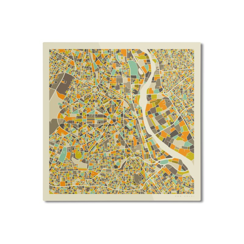 NEW DELHI MAP Home Mounted Aluminum Print by Jazzberry Blue's Artist Shop