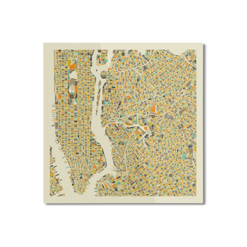 NEW YORK MAP Home Mounted Aluminum Print by Jazzberry Blue's Artist Shop