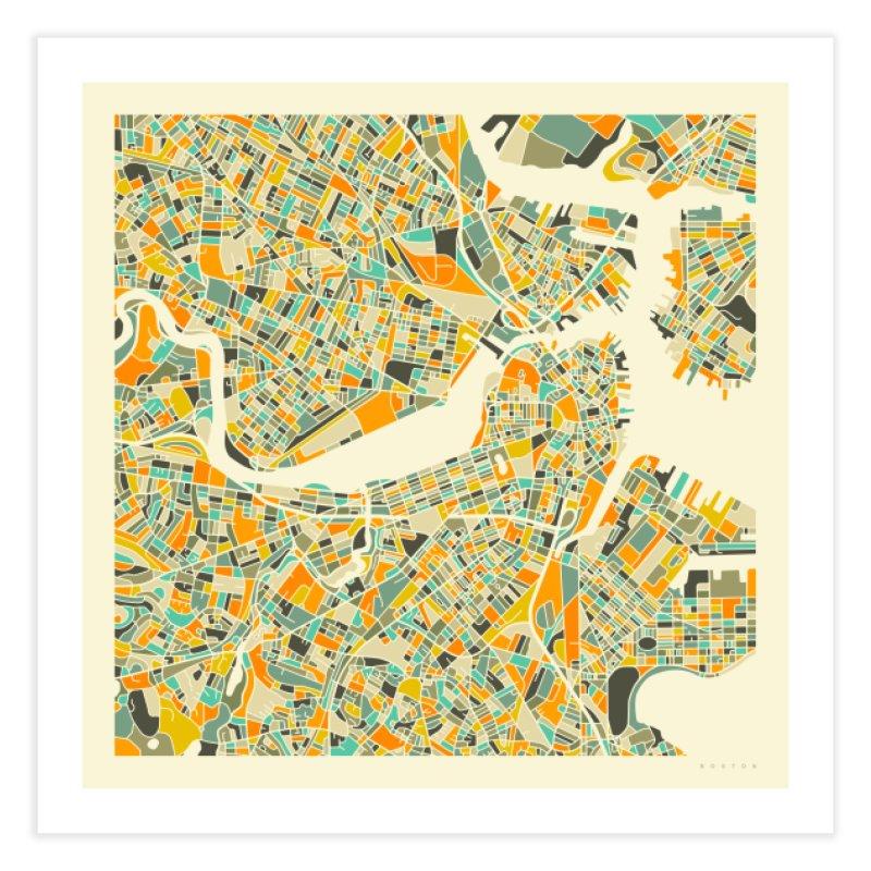 BOSTON MAP in Fine Art Print by Jazzberry Blue's Artist Shop