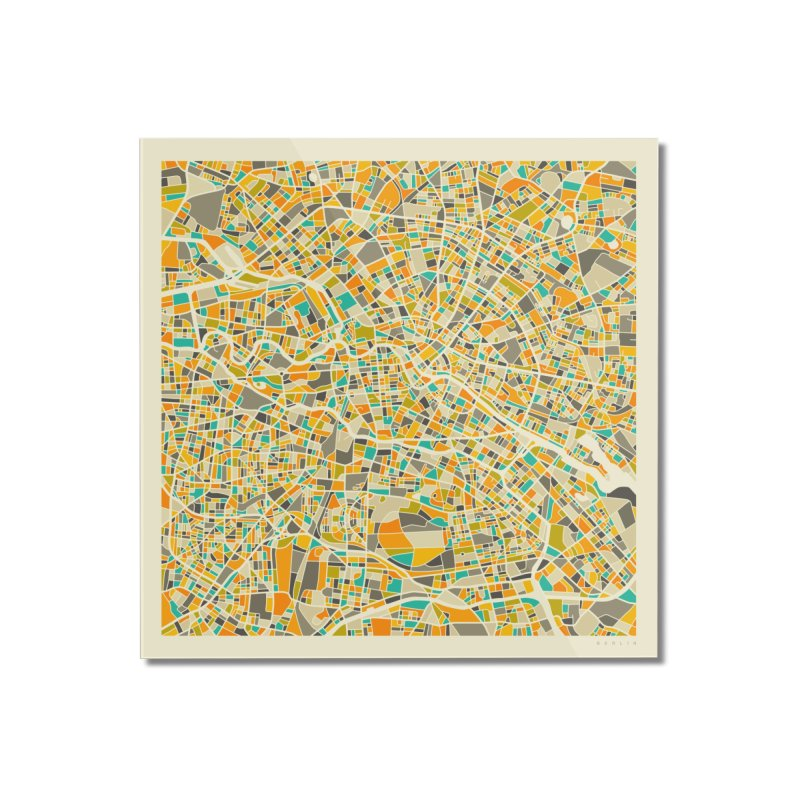 BERLIN MAP Home Mounted Acrylic Print by Jazzberry Blue's Artist Shop