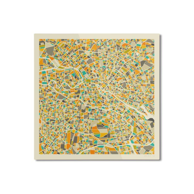 BERLIN MAP Home Mounted Aluminum Print by Jazzberry Blue's Artist Shop