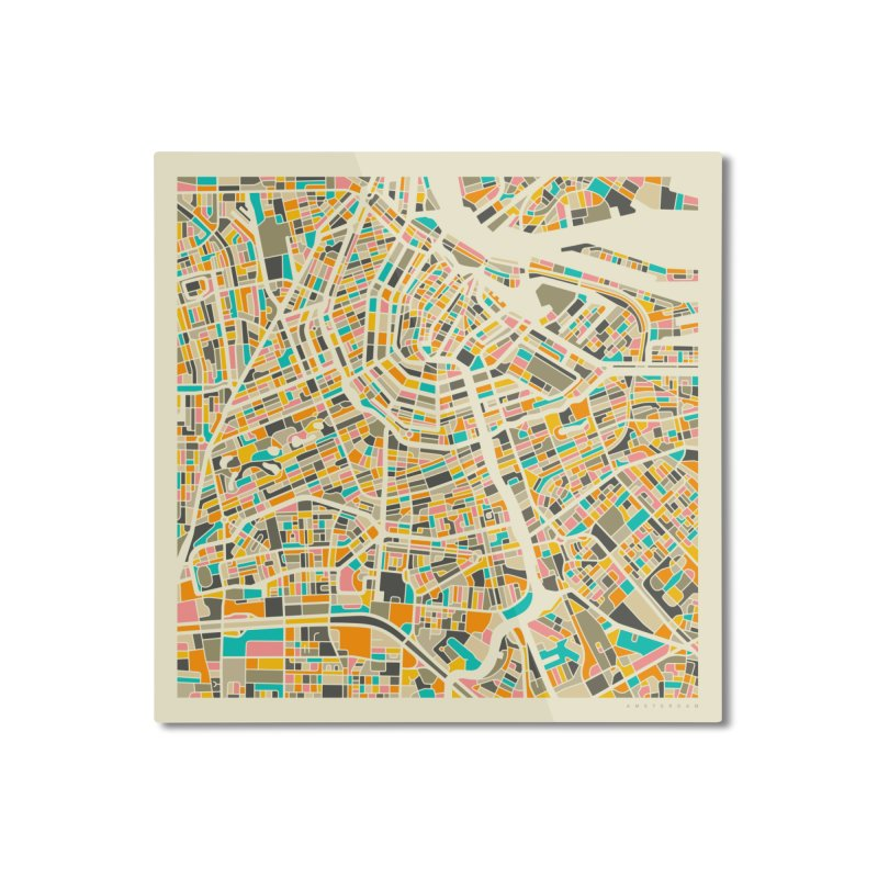AMSTERDAM MAP Home Mounted Aluminum Print by Jazzberry Blue's Artist Shop