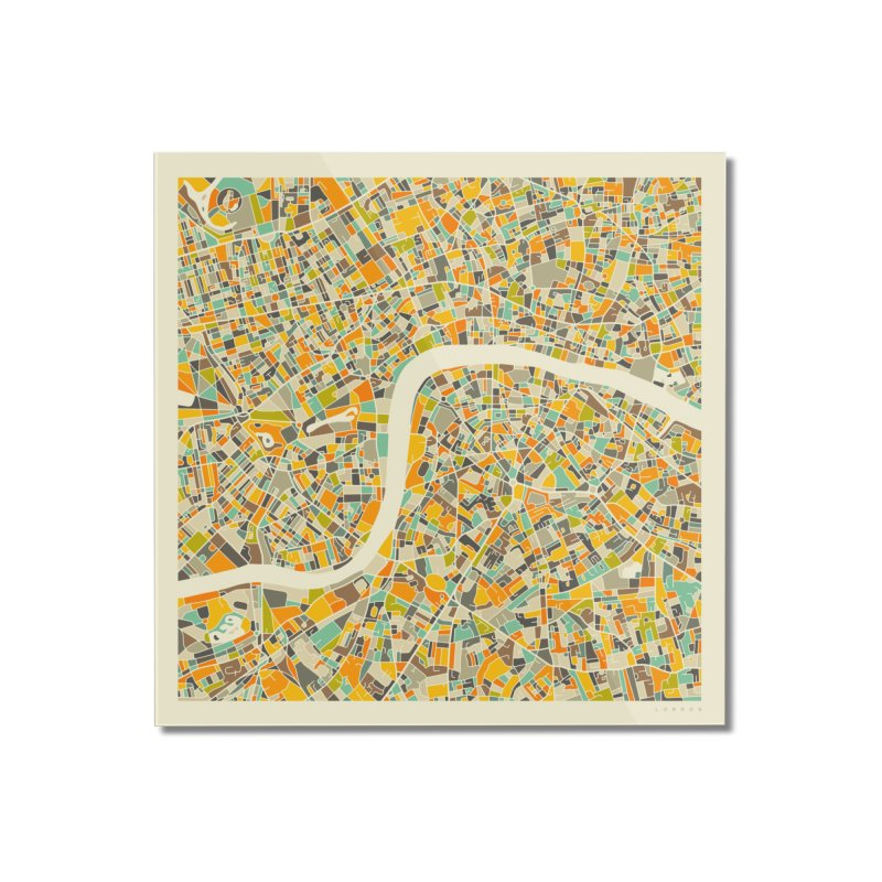 LONDON MAP Home Mounted Acrylic Print by Jazzberry Blue's Artist Shop
