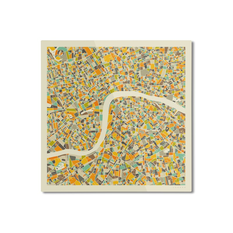 LONDON MAP Home Mounted Aluminum Print by Jazzberry Blue's Artist Shop
