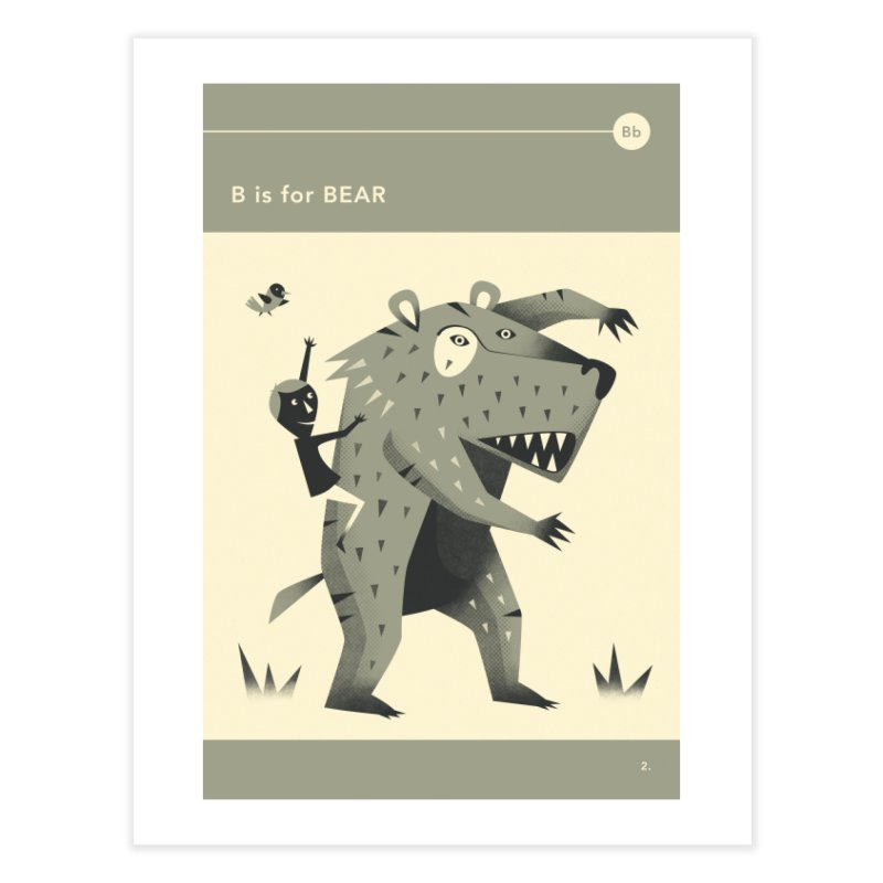 B IS FOR BEAR in Fine Art Print by Jazzberry Blue's Artist Shop
