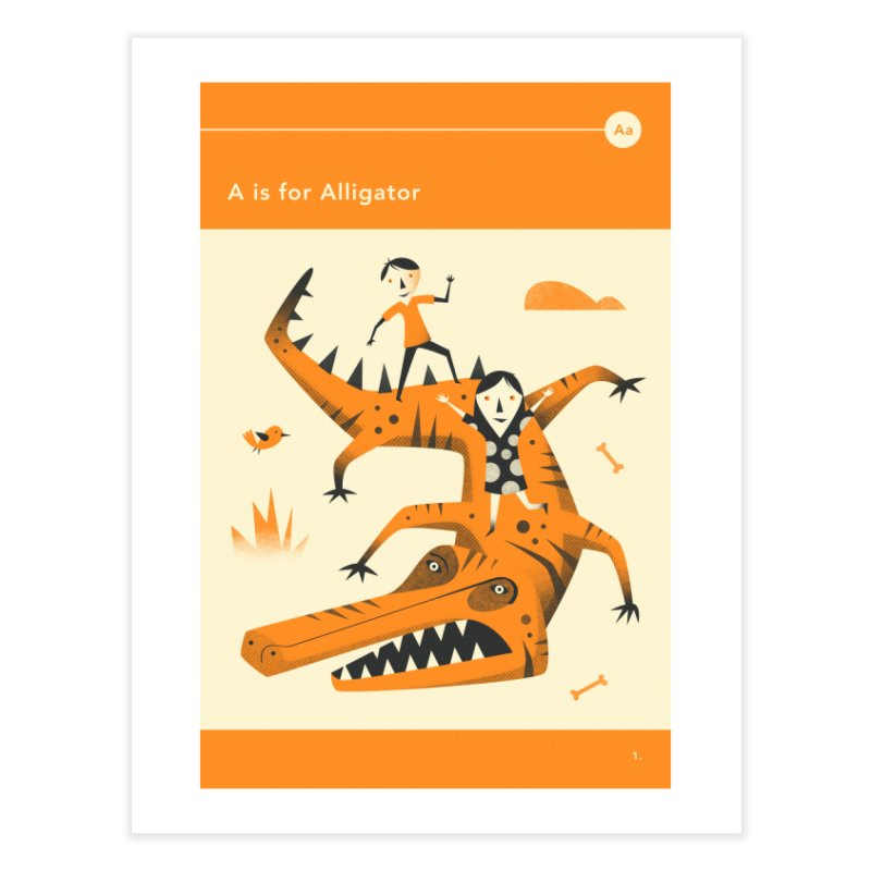 A IS FOR ALLIGATOR in Fine Art Print by Jazzberry Blue's Artist Shop