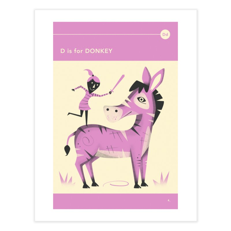 D IS FOR DONKEY in Fine Art Print by Jazzberry Blue's Artist Shop