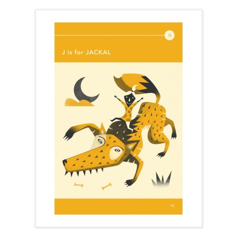 J IS FOR JACKAL in Fine Art Print by Jazzberry Blue's Artist Shop