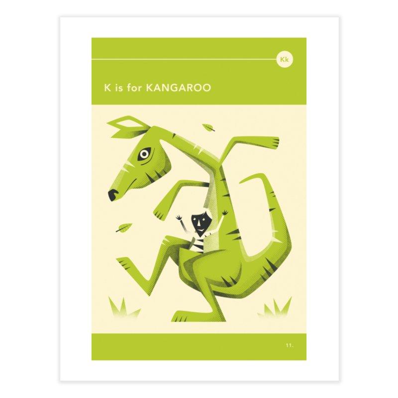 K IS FOR KANGAROO in Fine Art Print by Jazzberry Blue's Artist Shop