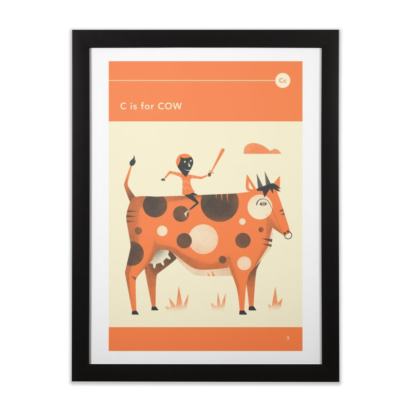 C IS FOR COW Home Framed Fine Art Print by Jazzberry Blue's Artist Shop