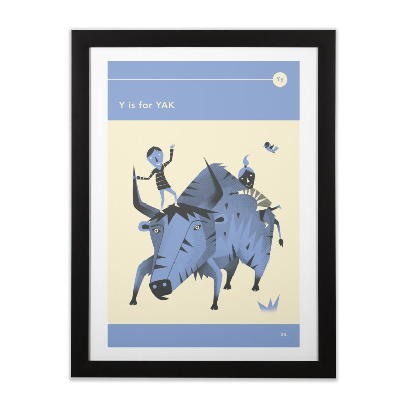 Y IS FOR YAK Home Framed Fine Art Print by Jazzberry Blue's Artist Shop