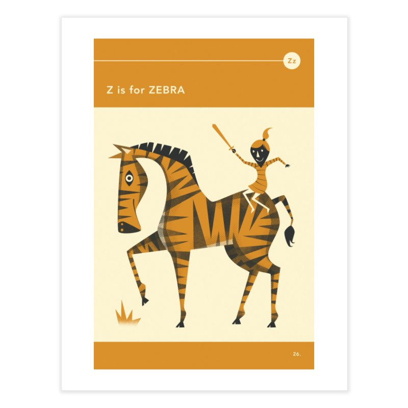 Z IS FOR ZEBRA Home Fine Art Print by Jazzberry Blue's Artist Shop